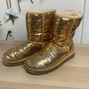 Sequin uggs size 7